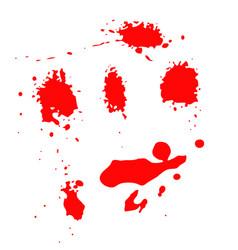 set of blood splashes isolated on white background vector image