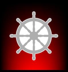 Ship wheel style vector