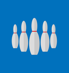 simple flat style bowling pins sport graphic vector image
