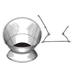 The design for a cuspidor is a receptacle made vector