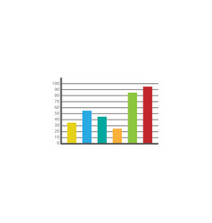 Web marketing analytics flat icon vector