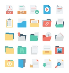 Files and folders icons 3 vector