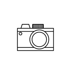 Vintage photographic camera vector