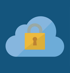 Cloud and security system design vector