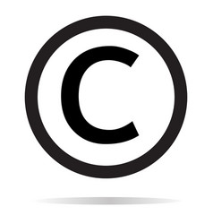 Copyright icon on white background copyright sign vector