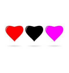 Heart icon flat design style vector