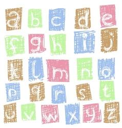 doodle alphabet 2 vector image