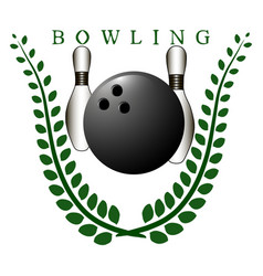 The theme bowling vector