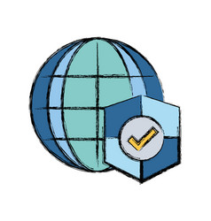 Global connect with shield to security information vector