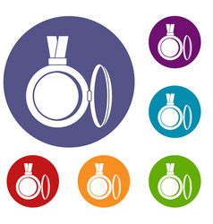 Medallion icons set vector