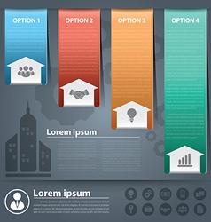 Arow business infographics2 vector image