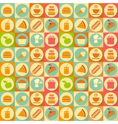 flat food seamless vector image