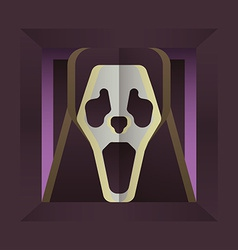 Screaming skull vector