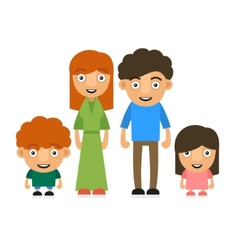 Family with two children vector