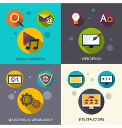 Web design set vector