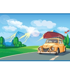 Weekend Camping vector image