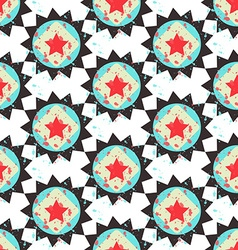Grunge colorful geometric seamless pattern vector