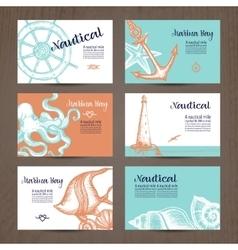 Nautical Card Set vector image