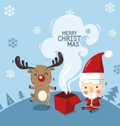 deer in happy day vector image