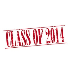 Class of 2014 red grunge vintage stamp isolated on vector