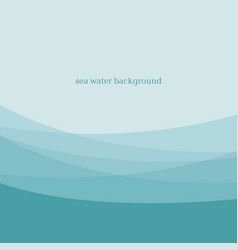 Abstract blue sea water modern background design vector