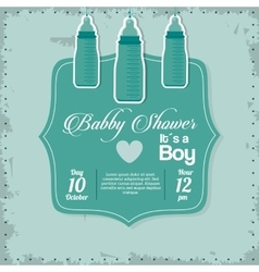 Baby Shower design baby bottle icon vector image vector image