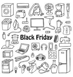 Black friday household set vector