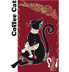 Catcoffee2 vector