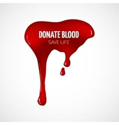 Donate blood poster vector image