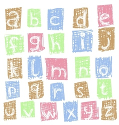 doodle alphabet 2 vector image vector image