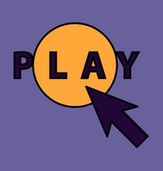 Flat play logo icon buttonyoutube flat social vector