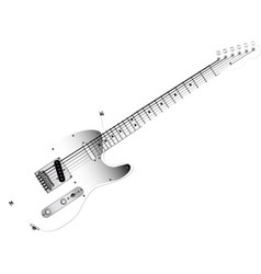 Glass Guitar vector image