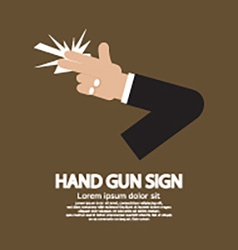 Hand gun sign graphic vector