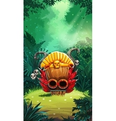 Jungle shamans mobile gui main window vector