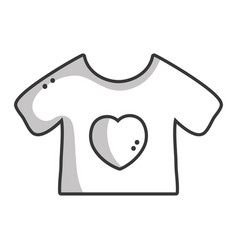 Line baby t-shirt and textile clothes vector