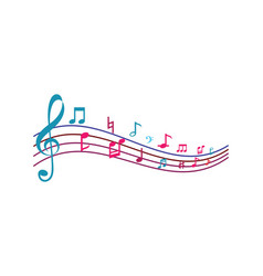 Music note ilustration vector