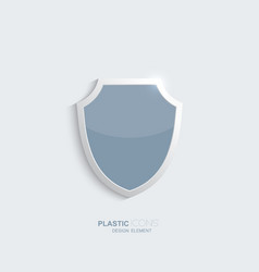 Plastic shield icon vector image vector image