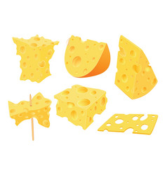 Set of cartoon cheese clip art vector