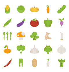 Vegetables icons flat design vector