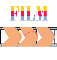 woman ass with film track vector image