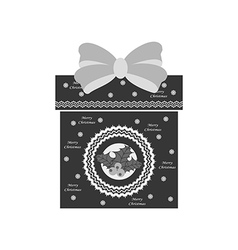 Christmas present icon vector