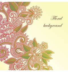 hand draw frame ornate card announcement vector image