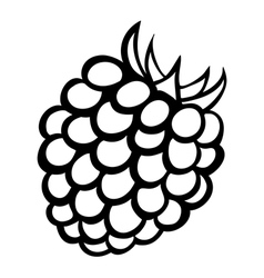 Monochrome of raspberry logo vector