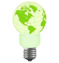 globe lamp vector image