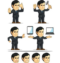 Businessman or company executive customizable 11 vector