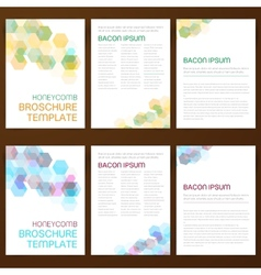 Abstract modern flyer brochure vector