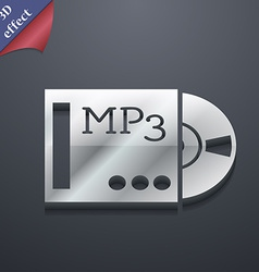 Mp3 player icon symbol 3d style trendy modern vector