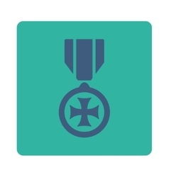 Maltese cross icon from award buttons overcolor vector