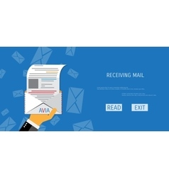 Air mail service web icon vector
