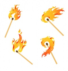Set of flames vector